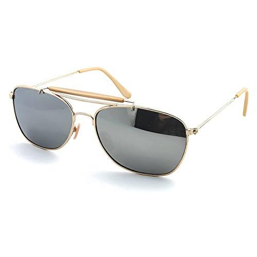mujer V2 estilo JOHNNY Aviador ESPEJO de Gafas Gold de mod CARAVANA KISS® sol DEPP hombre retro TnRzg