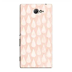 Cover It Up - Pink drops Xperia M2 Hard case