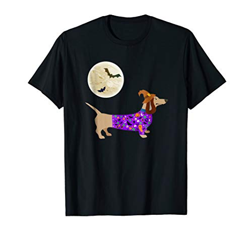 (Halloween Weiner Daschund T-Shirt Doxie in Dog)