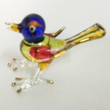 Studio one Handmade Animal Figurine Art Glass Blown Love Bird Best Gift Figurine Collection