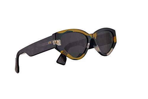 7dd83cdc71 Christian Dior DiorSpirit2 Sunglasses Orange Blue Yellow w Grey Blue Lens  52mm WEZIR Spirit Spirit2 DiorSpirit 2