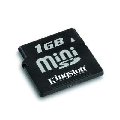 Kingston Technologies 1 GB Mini SecureDigital (miniSD) Memory Card (SDM/1GB)