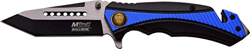 MTech USA MT-A950BL Spring Assist Folding Knife, Two-Tone Straight Edge Blade, Black And Blue Handle, 4.75-Inch Closed Review