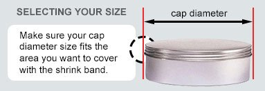 Shrinkband Tamper Heat Cellophane Seal 200 pcs bands. SHRINK WRAP BANDS 1-1 1//4 Diameter