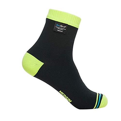 (Dexshell Ultralite Biking Waterproof Socks, Hi-Vis Yellow, Large)