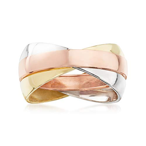 Ross-Simons 14kt Tri-Colored Gold Rolling - Ring White Gold Rolling