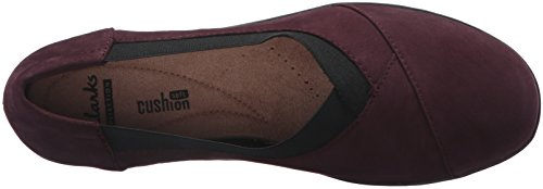 Clarks Womens Everlay Eve Slip-on Mocassino Melanzana Nubuck