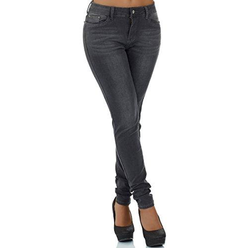 gris malucas skinny para mujer Vaqueros xI7wrF7