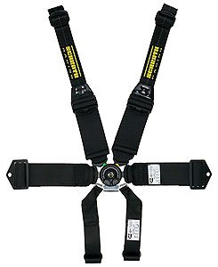 Simpson Racing 29064BK Latch and Link 55 Black Wrap Individual 5-Point Harness System