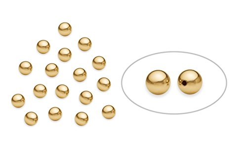 50 Pieces 14K Gold Filled Round Smooth Beads 4 mm