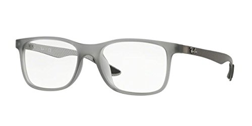 Ray-Ban Unisex 0RX8903F 55mm Matte Transparent Grey One - Transparent Ban Ray Frame