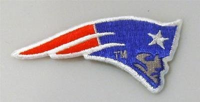 "New England Patriots Medium Logo Embroidered Patch - 3"" x 1.5"""