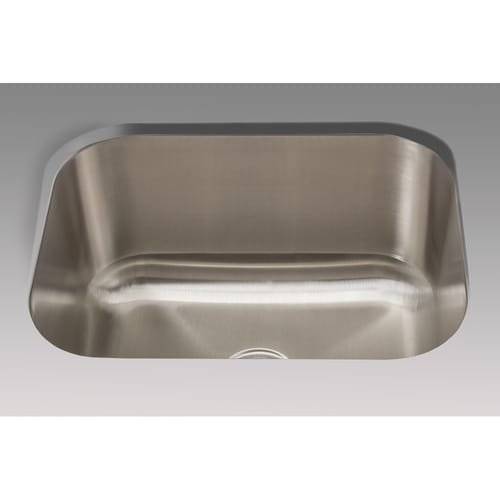 Mirabelle MIRLS2318 23'' Single Bowl Undermount Utility Sink with Sound Absorbtio, Stainless Steel by Mirabelle