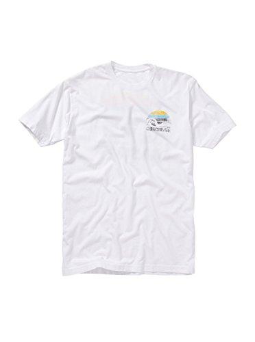 (Quiksilver Men's Sunblock T-Shirt, White, Large)