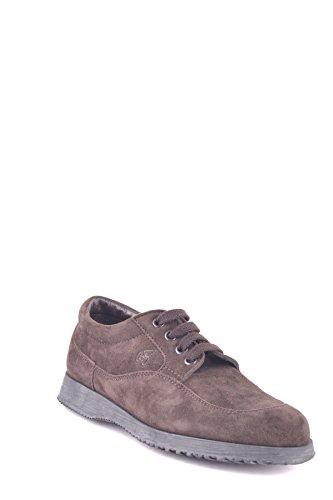 Hogan Mujer MCBI148314O Marrón Gamuza Zapatos De Cordones