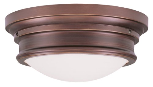 Livex Lighting 7343-70 Astor 3 Light Ceiling Mount, Vintage Bronze