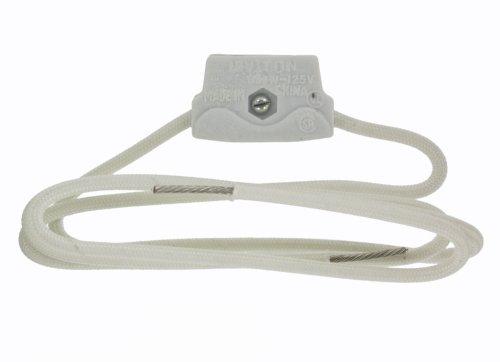 Par 38 Side Prong - Leviton 368 Medium Prong Base, Unglazed Porcelain Lampholder,White