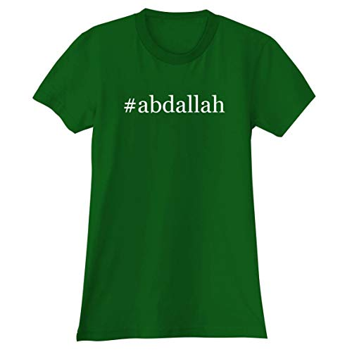 The Town Butler #Abdallah - A Soft & Comfortable Hashtag Women's Junior Cut T-Shirt, Green, XX-Large