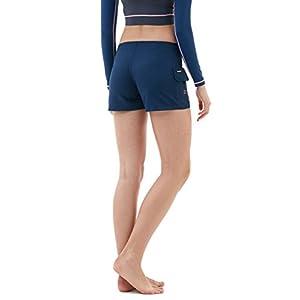 "TM-FSB01-NVY_Small Tesla Women's 2.5"" Swim Trunks Quick Dry Water Beach Board Shorts FSB01"