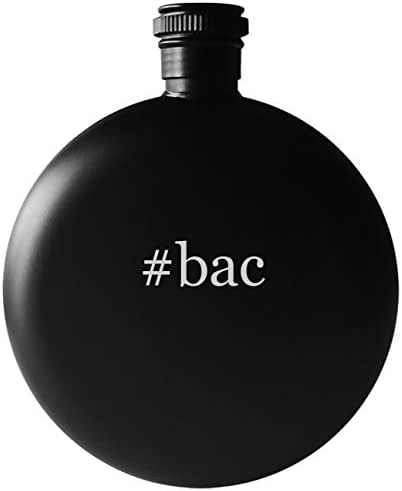 #bac - 5oz Round Hashtag Drinking Alcohol Flask, Matte Black