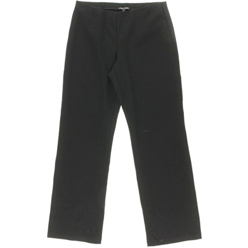 Eileen Fisher Womens Stretch Straight Leg Casual Pants Black S (Eileen Fisher Pants Black compare prices)