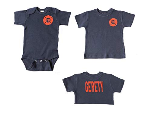 Firefighter Baby or Toddler Shirt Future Firefighter -