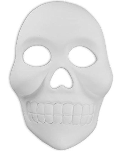 Day of the Dead Skull Mask - Paint Your Own Ceramic Keepsake