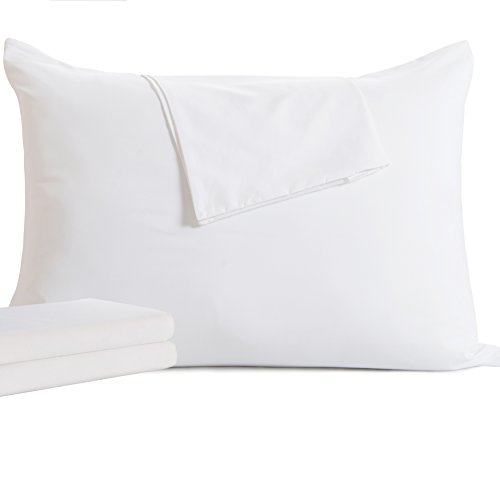 2 Pack King Zippered Down Pillow Protectors - Hypoallergenic Pillow Covers against Dust Mite,Bed Bug,Allergens
