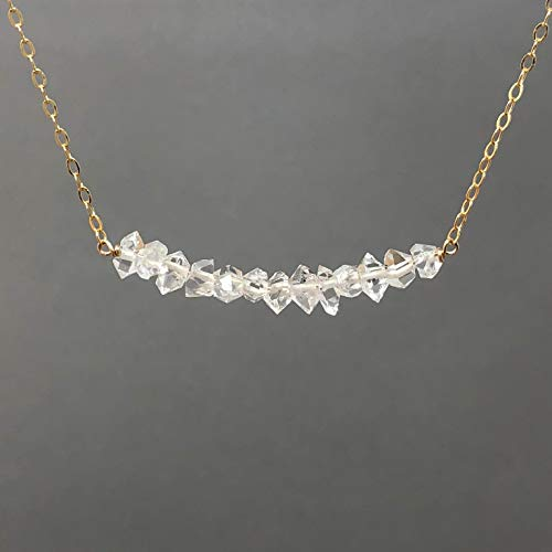 Herkimer Diamond Gold Fill Necklace also in Sterling Silver and 14k Rose Gold Fill