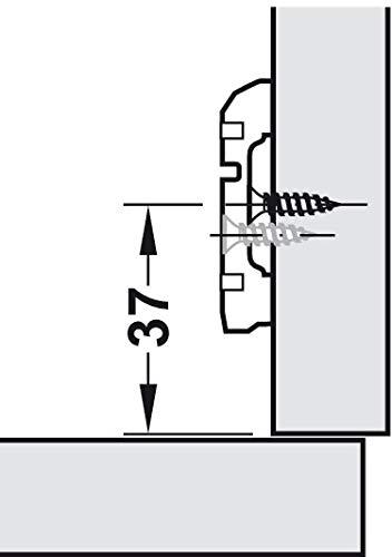 bisagra para puerta de armario para aplicaciones de /ángulo de 45/° Bisagra de cocina con cierre autom/ático Metalla Mini A 95/° Plateado 2 unidades Gedotec