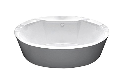 Poussin oval freestanding soaker bathtub for Best soaker tub for the money