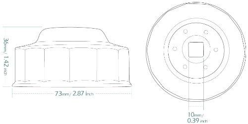 KiWAV Herramienta LLAVE FILTRO de ACEITE Oil Filter Wrench 68mm x 14F negro acero para