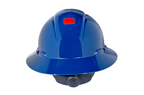 3M Full Brim Hard Hat H-810V-UV, 4-Point Ratchet Suspension, Vented and Uvicator, Navy Blue