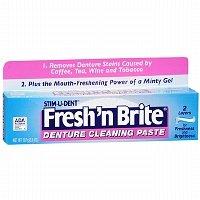Fresh and Brite Regular Paste & Gel Denture Toothpaste, 3.8 oz - 2pc
