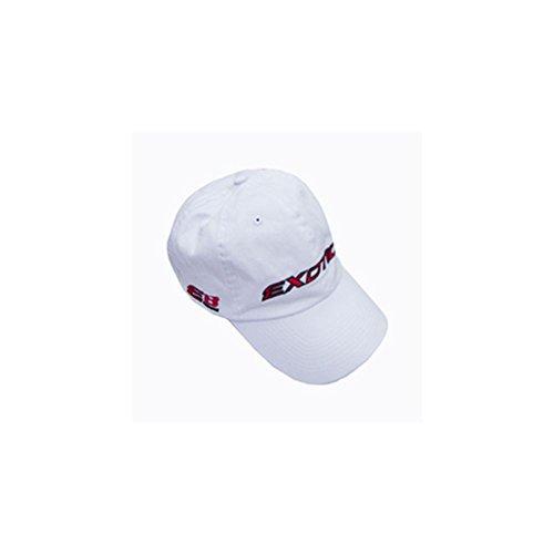 Tour Edge Exotics E8 Golf Hat (Unstructured, White, Adjustable)
