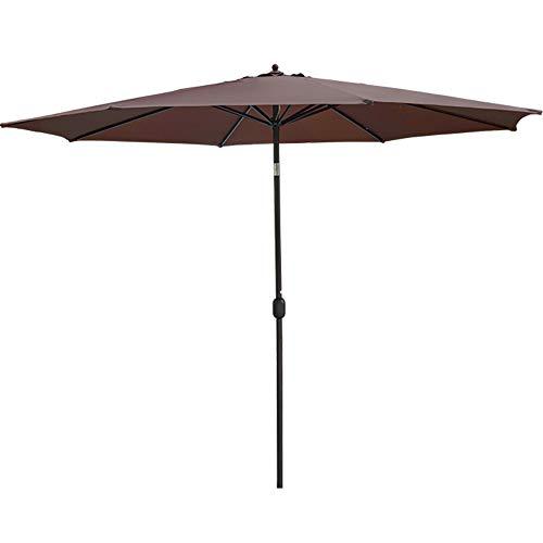 Sundale Outdoor 11 ft Aluminum Patio Umbrella Table Market Umbrella with Crank and Push Button Tilt for Graden, Deck, Backyard, Pool, 8 Steel Ribs, Polyester Canopy (Coffee)