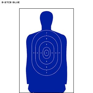 B-27CB Cardboard Targets/ Blue 100 PACK by Law Enforcement Targets