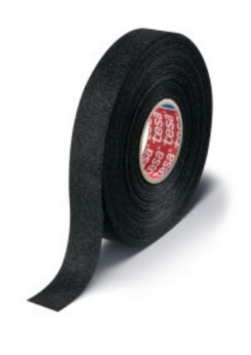 Tesa 51608 PET Fleece Tape for Noise Damping Wiring Cloth Tape 19mm X 15m (1) by Tesa