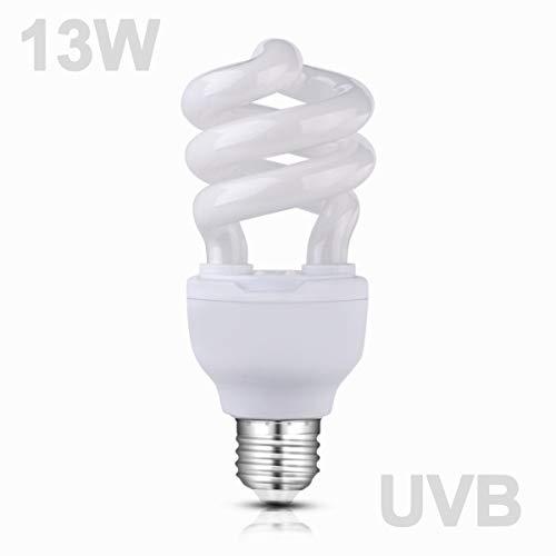 (Wuhostam 13W Compact Fluorescent Lamp Repti-Glo 10.0 UVB Basking & Calcium Lamp for Reptiles Tortoise Lizard)