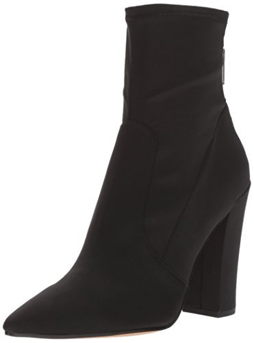 Fashion Women's Vita Dolce Satin Elana Boot Onyx qOtOx0PU