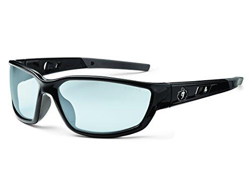 Skullerz Kvasir Safety Glasses - Black Frame, In/Outdoor - Safety Glass Working Glasses