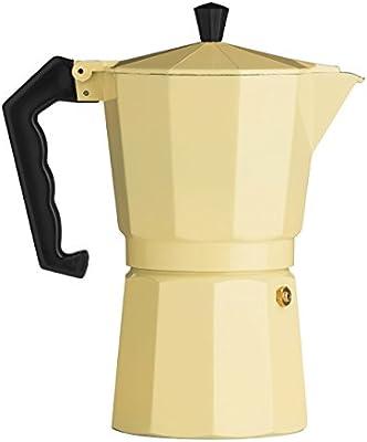 Tradicional italiana de diseño de 9 tazas cafetera - crema de ...