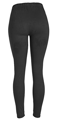 VIV Collection Women's Printed High-Waist & Solid Velour Leggings 3133yJh6PrL