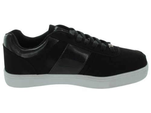 US Polo Assn Phase Lo X Men Round Toe Synthetic Sneakers Black/Silver 3FaFAITnj