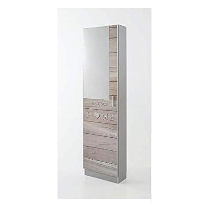 Closet Norte scarpiera 1 Anta con Specchio 180 x 50 x 20 cm: Amazon ...