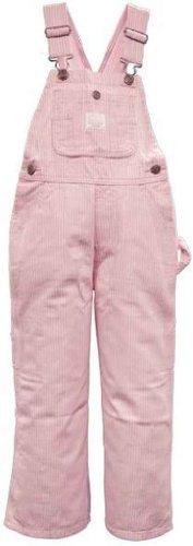 Lakin McKey 225 Kid's Premium Washed Bib Overall Pink Stripe Size 7 Premium Bib Overall