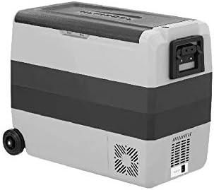電気涼しい箱 60 リットル ポータブル冷蔵庫冷凍庫 12 v DC 220 v AC デュアル クーラー コンプレッサー ピクニック製氷箱を使用しての運転旅行釣り屋外とホームの使用