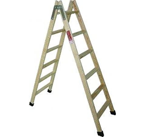 Fruc 2010 M24380 - Escalera madera pino doble con taco 5 peldaños: Amazon.es: Bricolaje y herramientas