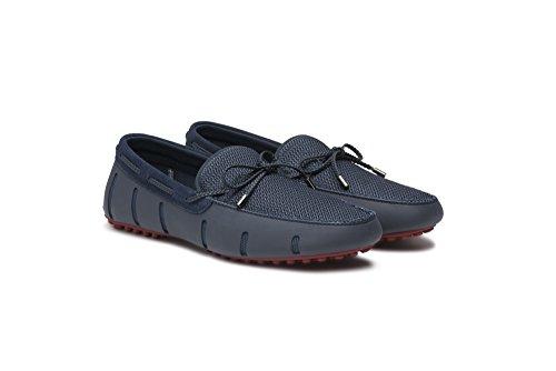 Zwemt Gevlochten Lace Loafer Dt Marine / Diep Rood