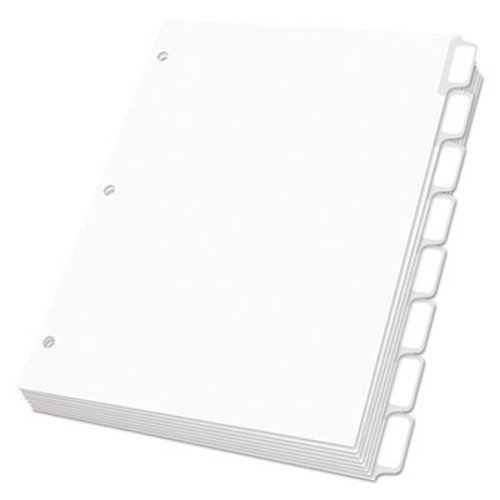 Oxford Custom Label Dividers, Self-Stick Tab Labels, 8-Tab, Letter, White, 5 Sets